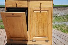 Kitchen Trash Bin Cabinet Wood Tilt Out Trash Bin Cabinet Best Cabinet Decoration