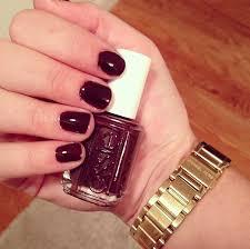 essie carry on deep burgundy purple nail polish nail color