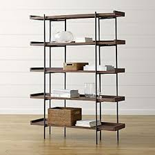 Metal And Wood Bookshelves by Bookcases Wood Metal And Glass Crate And Barrel