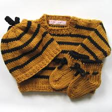 bumble bee baby knit sweater set soft merino wool luxury baby