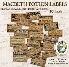 Free Printable Halloween Potion Labels by Macbeth Witch Halloween Vintage Poison Potion Apothecary Bottle