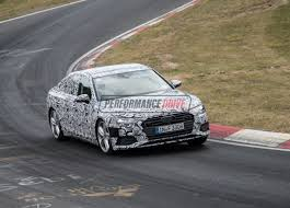 2018 audi a8 spied pushing hard on nurburgring with new s6 video