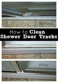 Cleaning Glass Shower Doors With Vinegar How To Clean Your Shower Door Tracks Centsable Momma
