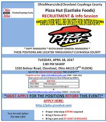 pizza hut eastlake foods
