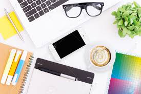 creative desk workspace stock photo picture and royalty free