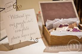 sign in guest book alternative guest book puzzle sign wedding reception seating