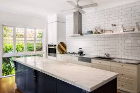 Kitchen Marble Top Traditional Country Kitchen Design Brisbane With Natural Marble