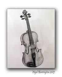drawn violinist pencil sketch pencil and in color drawn