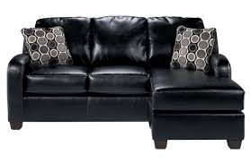 Durablend Leather Sofa Devin Durablend Black Sofa Chaise By Signature Design By