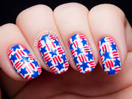 stars and stripes basket weave nail art chalkboard nails nail