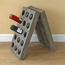 mia bella casa limited reclaimed wood folding wine rack