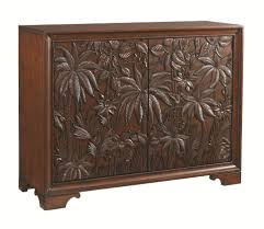 Dining Room Chests Tommy Bahama Home Landara Balboa Tropical Carved Door Chest With