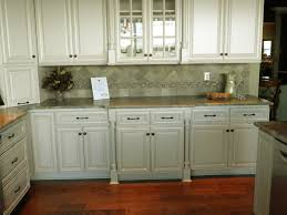 sectional shaped distressed white kitchen cabinets mixed grey