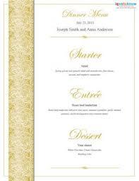wedding menu templates free printable wedding menu templates lovetoknow