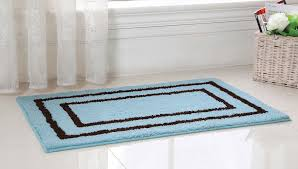 Bathroom Floor Rugs Bathroom Modern Aqua And Brown Large Bath Rugs For Appealing