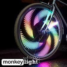 amazon com monkey light m232 200 lumen bike wheel light 32