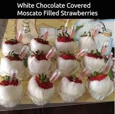 White Chocolate Dipped Strawberries White Chocolate Dipped Strawberries Filled With Moscato Perfect