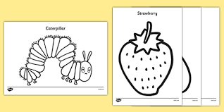 colouring sheets to support teaching on the very hungry