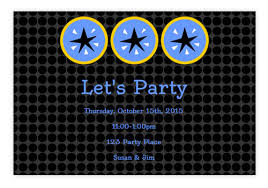 online party and text message invitations