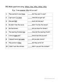 exercises wh question words english pinterest wh questions