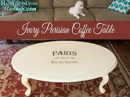 ivory parisian coffee table restoration redoux