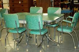1950s Kitchen Furniture 1950 Kitchen Table And Chairs Chrome Retro Kitchen On Kitchen