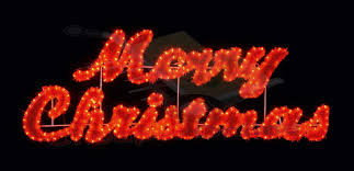 109cm merry sign with twinkling leds for in outdoor