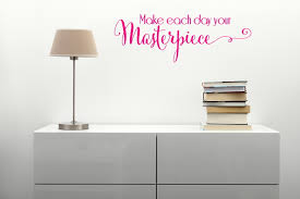 make each day your masterpiece swirly wall sticker decals quotes make each day your masterpiece swirly wall sticker decals quotes wall letters loading zoom