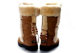 ugg bronw nightfall 5359 zipper on back boots collection