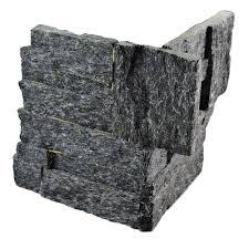 sandstone tile natural stone tile the home depot ledger panel black quartzite corner 7 in x 7 in natural stone wall tile