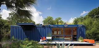 modern blue nuance of the insulated storage container house can be
