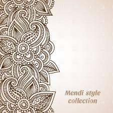 mehndi style ornamental border vector clipart image 29058 rfclipart