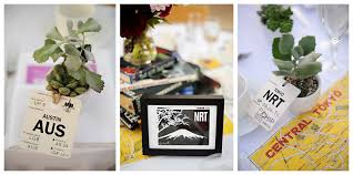 themed table numbers plan me wedding and event designers a travel themed