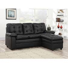 Sofas At Walmart by Buchannan Faux Leather Sectional Sofa With Reversible Chaise Black