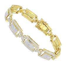 bracelet chain gold man images 10k gold pave diamond bracelet for men 2 75ct by luxurman jpg