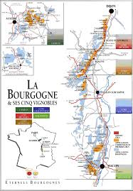 France Regions Map by Map Of The Bourgogne Region Of France Including Auxerre Dijon Map