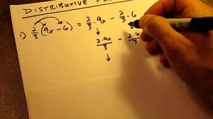how to distributive property fractions youtube