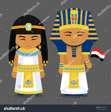 Flag Dress Egyptians National Dress Flag Man Woman Stock Vector 496067557
