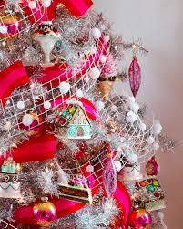 silver christmas tree with color wheel christmas lights decoration