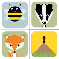 woodland animal cards by stripeycats notonthehighstreet