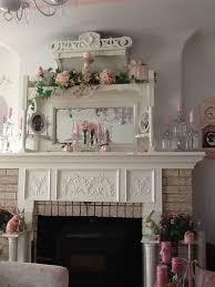 Fireplace Mantel Decor Ideas by Best 25 Shabby Chic Mantle Ideas On Pinterest Shabby Chic Wall