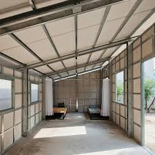 prefab tiny residence with steel lattice construction assembles