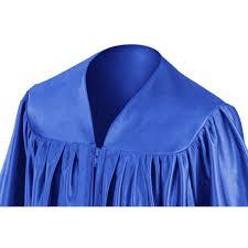 blue cap and gown royal blue kindergarten gown gradshop