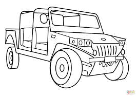 humvee clipart military light utility vehicle coloring page free printable