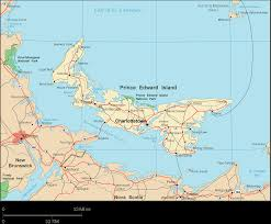 Canadian Provinces Map Prince Edward Island Map Map Of Prince Edward Island Prince