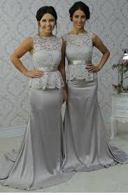 silver wedding dresses for brides silver mermaid lace wedding guest dresses bridesmaid dresses 3010251