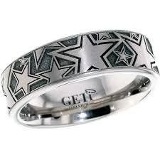 star wedding rings images Laser engraved stars ring party like a rock star with titanium buzz jpg