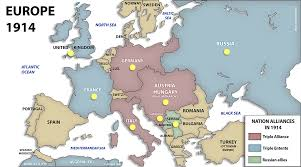 Europe Map Ww1 Interactive Map Mapping The Outbreak Of War And Ww1 Europe