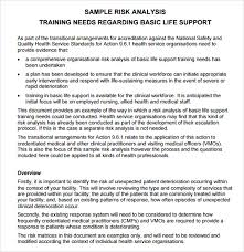 risk analysis template 8 download free documents in pdf