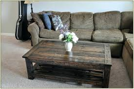 Coffee Table From Pallet How To Build A Coffee Table Out Of Pallets Diy Ottoman Coffee